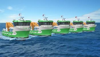 Servicefartøy bygges ved Sletta Verft. Designet av Solstrand Trading