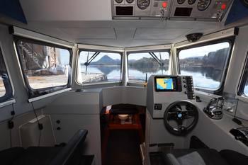 Støydemping og bruk av materialer og komponenter av høy kvalitet sikrer et godt arbeidsmiljø om bord. Foto: Hukkelberg Boats