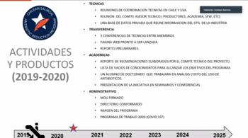 Avances y actividades CSARP 2019-2020. Foto: Presentación Esteban Ramírez.