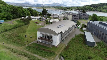 The SAMS campus at Dunstaffnage, near Oban, on the west coast of Scotland. Click on image to enlarge. Photo: SAMS.