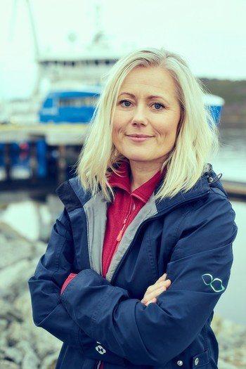Hilde Mosand, nordisk markedssjef for MSD Animal Health i en vaksineoppdatering. Foto: MSD.