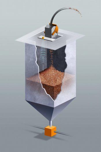 Sobit scannere gir kontinuerlig og nøyaktig måling av fôret i siloen.