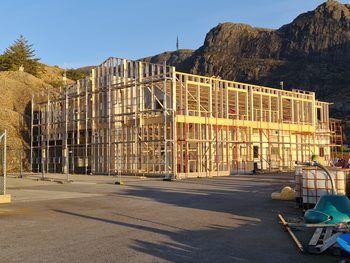 Oppgradering av landbasen til Sulefisk på Eide. Foto: Sissel Kråkås.
