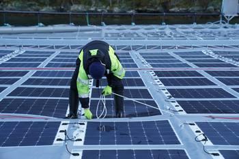 Solcelleanlegg. Foto: Inseanergy