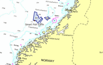 SalMar's application takes salmon farming further off the coast than it has been before. Click on image to enlarge.