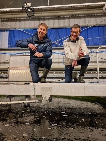 Daglig leder Halvard Hovland sammen med Bjørn Lillelien. Foto: Eivind Hauge.