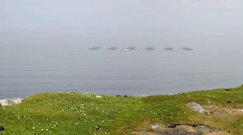 How the Balmacqueen site would look from Trotternish. Click on image to enlarge. Montage: Munro Landscape Ltd.