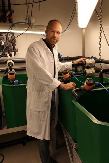 Tarald Kleppa Øvrebø works as a researcher in the Akvaplan-Niva and is also a co-founder of ShrimpVision.