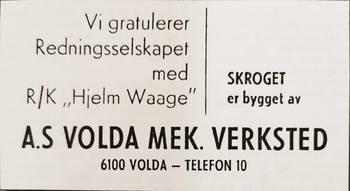 Annnonse i Skipsrevyen nr 1/1971