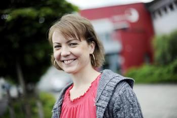 Hege Lysne, produktsjef for økologisk fôr hos Skretting. Foto: Skretting
