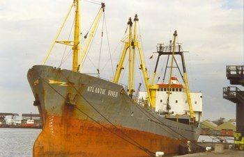 M/S «Norimo» har hatt flere eiere. Her som  M/S «Atlantic River». Fotograf ukjent