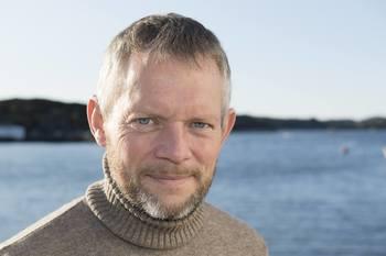 Utviklingssjef Simon Nesse Økland i Bremnes Seashore. Foto: Peter Tubaas/Vestland Media