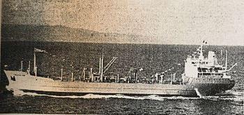 Flaggprydet «Chemical Rubi» på jomfruturen i 1971. Faksimile: Skipsrevyen nr. 1/1971