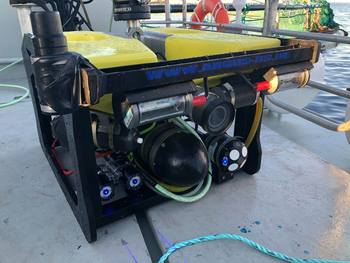 Nortek's DVL1000, bottom right, installed on the Artifex net inspection ROV. Click on image to enlarge. Photo: SINTEF Ocean AS.