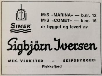 Faksimile fra Skipsrevyen nr. 1/1971
