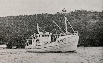 «Comet» var verftets byggnr. 16 og ble overlevert i august 1971. Faksimile fra Skipsrevyen nr. 1/1971.
