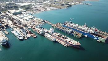Tersan er det største skipsverftet i Tyrkia. Foto: Tersan.