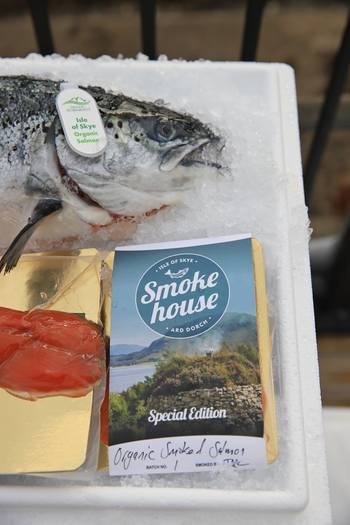 OSH gave Charles and Camilla a fresh salmon and cold-smoked OSH salmon from the Isle of Skye Smokehouse. Photo: OSH.