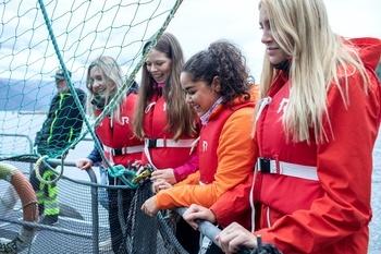Traineene var imponert over hvor mye spennende som rører seg innen sjømatnæringen og var strålende fornøyd med hva de hadde lært. Foto: Silje Katrine Robinson.