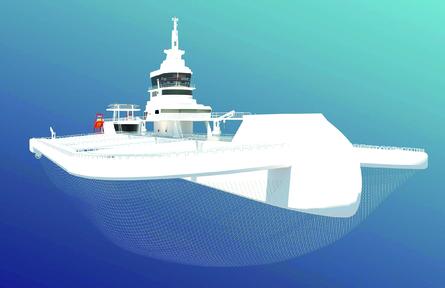 La nave tiene una capacidad de producción aproximada de 3.900 toneladas métricas de peces. Imagen: Oatech.