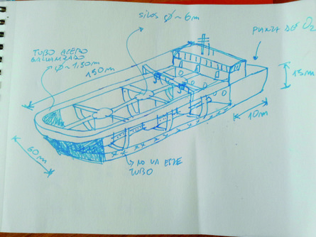 An early Ocean Arks Tech drawing from the summer of 2017. Image: Ocean Arks Tech.