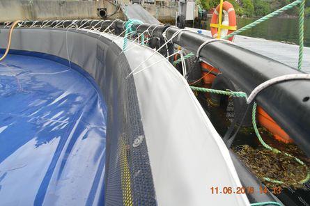 Plastduken som solcellepanelene er montert på, er levert av NWP og må tåle en trøkk. Foto: Gustav Erik Blaalid