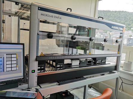 Her ser du det helt nye spesialdesignede, bioteknologiske laboratoriet. Foto: Ole Andreas Drønen.