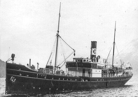 DS «Stord» i Ulvik en gang mellom 1913 og 1931