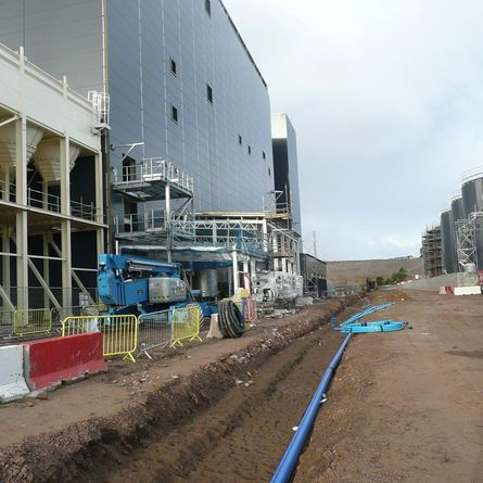 Much of the cladding is now in place on the main building of the £100m-plus facility.