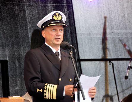 Havnesjef Johnny Breivik gledet seg til dager med yrende veteranbåtliv i Bergen Havn. Foto: Andrea Bærland
