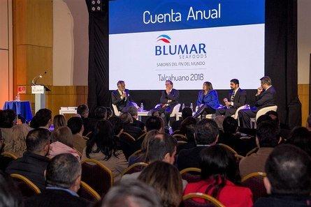 Panel de conversación. Foto: Blumar.