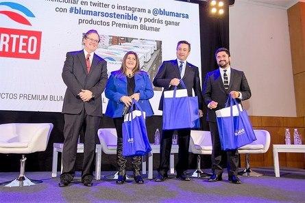 Gerardo Balbontín, Paola Sanhueza, Mario Delannays y Henry Campos. Foto: Blumar.