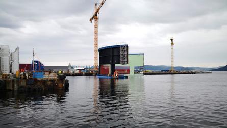 «Aquatraz»-merden er ventet å skal bli levert til Midt-Norsk Havbruk 14.september og fisk skal være i merden i løpet av måneden. Foto: Seafarming Systems.