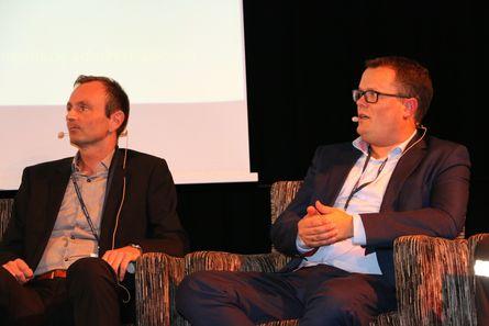 Regionsjef Ragnar Lind og juridisk seniorrådgiver Kjetil B. Sørensen i Sjøfartsdirektoratet. Foto: Andrea Bærland