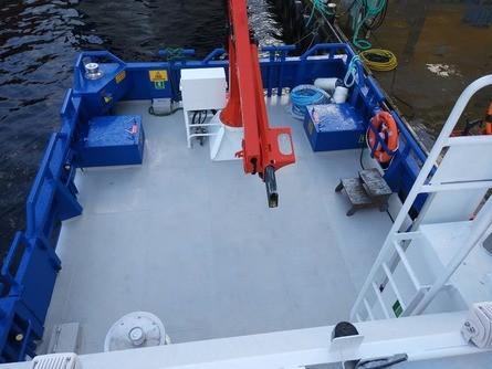 Arbeidsbåten «Buholmen» er laget i aluminium og er 10,4 x 4,7 meter. Foto: Sletta Verft.