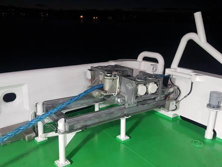 Thor taulås montert på båten ''Multi Innovator''