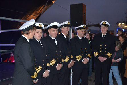 Noe av mannskapet om bord på «Norwegian Gannet». Foto: Kyst.no.