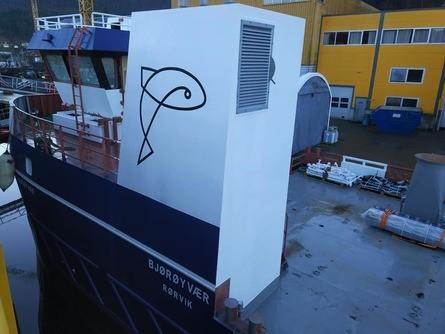 «Bjørøyvær» er en 19-metring og skal leveres til Bjørøya mars neste år. Foto: Sletta Verft.