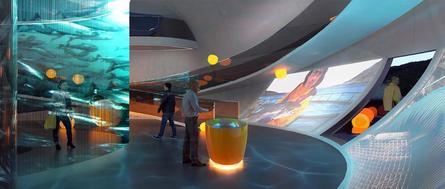 En el interior, el centro ofrecerá soluciones tecnológicas e interactivas. Ilustración: Diseño y Comunicación Kvorning.