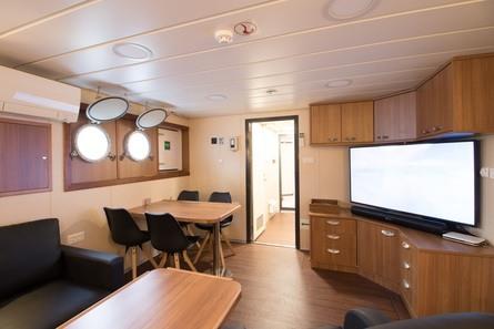 «Godfisken» har moderne fasiliteter om bord. Foto: Fo2rger
