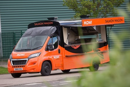 The Salmon Wagon will be available to charities from next year. Click on image to enlarge. Photo: Mowi.