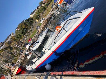 Fartøyet «Frisk» har Volvo Penta D motorer med kapasitet på totalt 740HK. Foto: Folla Maritime Service AS.