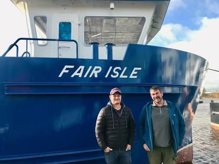 Fair Isle skippers Aaron Anderson and Alastair MacEachen. Photo: SSF.