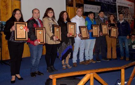 Premiados en la ceremonia de AquaChile. Foto: AquaChile.