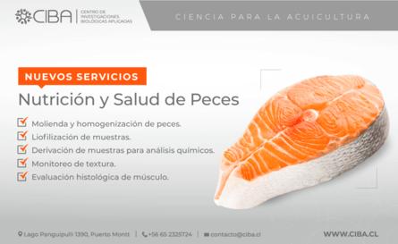 Nuevos servicios de nutrición y salud de peces (hacer click para agrandar la imagen). Fuente: CIBA.