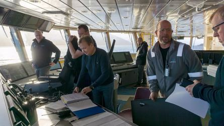 Det er mange disipliner om bord under en prøvetur. Foto: Ulstein