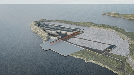 The first phase of the salmon farm will have the capacity for 9,000 tonnes of fish.