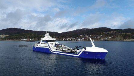 Vinner i 2020 var verdens første hybride brønnbåt, «Ro Vision». Foto: Rostein