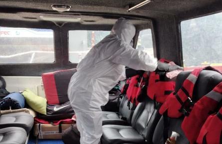 Servicios de Desinfección de embarcaciones acuícolas. Foto: Servicio de Desinfecciones Acuícolas Susana Salas Bórquez.
