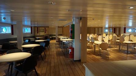 Møblene er levert av Vestnes Ocean. Foto: CR Ulstein Group